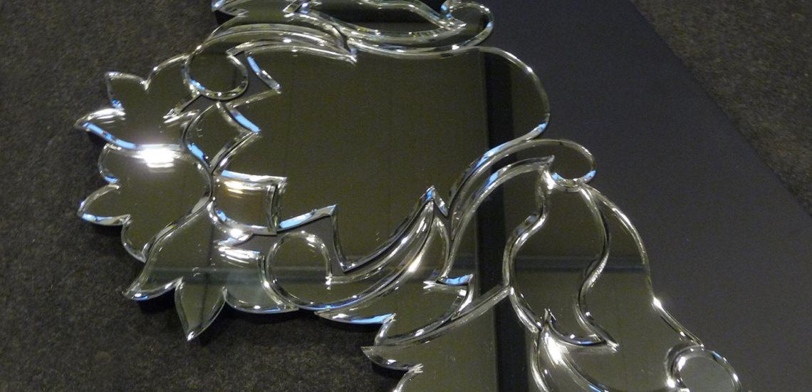 Fronton miroir chanfreiné et argenté ARIZIO MIROIR DECO