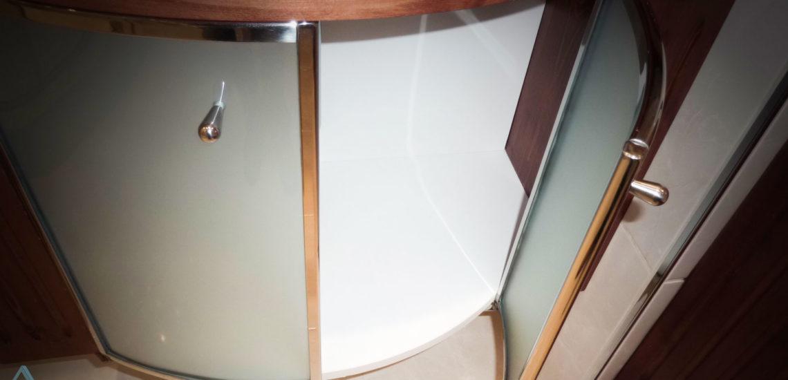 Porte de meuble en verre bombé avec cadre inox ARIZIO MIROIR DECO
